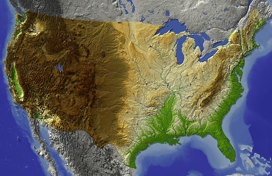 ostküste amerika karte